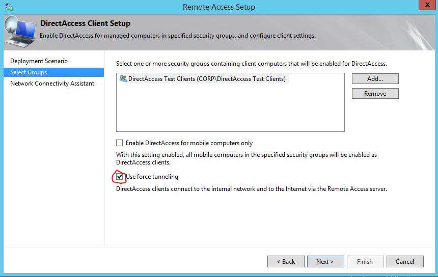 Errors with Outlook and DirectAccess forced tunneling | The